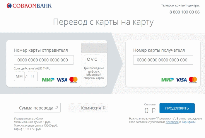 сервис перевода денег на сайте